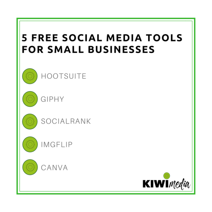 5 free social media tools for your small business