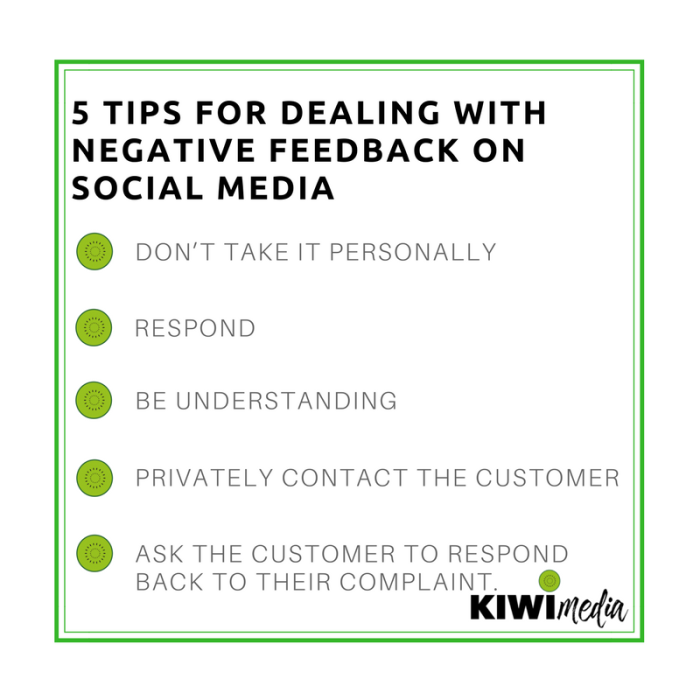 Kiwi media - how to respond to negative feedback